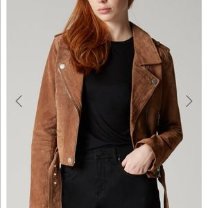 Blank NYC suede Moro jacket: coffee bean